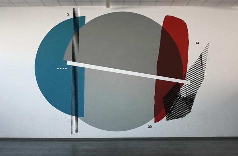 Nella mensa aziendale ICA l'artista civitanovese Giulio Vesprini realizza un grande murales.