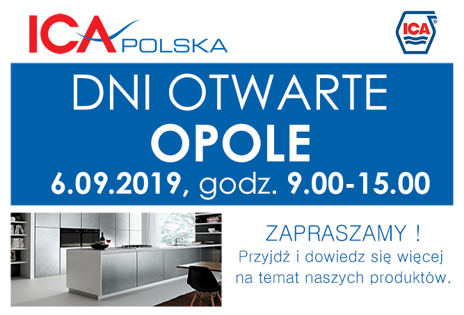 Dzień Otwarty w Oddziale ICA POLSKA w OPOLU 6.09.2019, od 9:00 do 15.00.