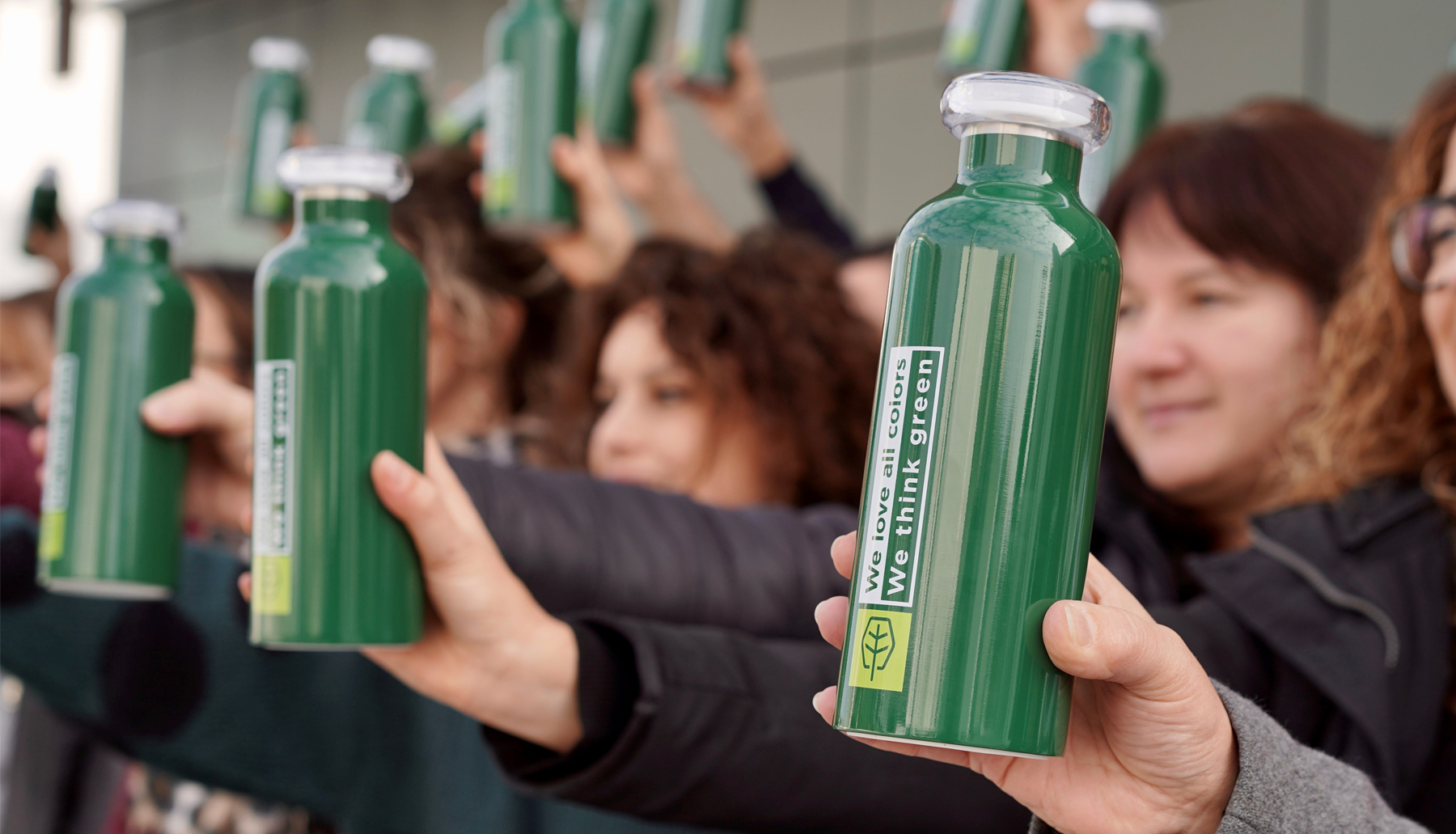 "After our BIO coatings, ICA Group's ""green"" revolution continues ... with our reusable bottles"