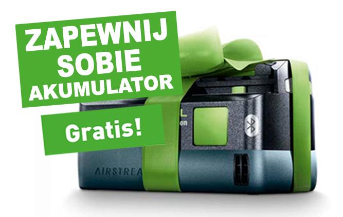 Kup jedno z biorących udział w PROMOCJI narzędzi 18 V,  a otrzymasz Akumulator 5,2 Ah Bluetooth® GRATIS.